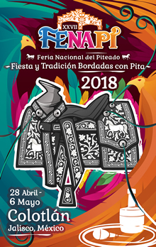 Cartel Oficial de la XXVII Feria Nacional del Piteado, Colotlán 2018;